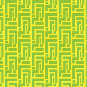Geometric Lemon Lime Spring Yellow Green_Miss Chiff Designs