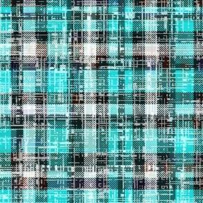 Turquoise Lumberjack Grunge by Su_G_©SuSchaefer