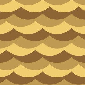scallop wave zigzags : desert sand dunes