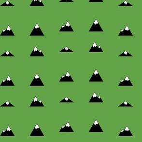 Mountains on Green