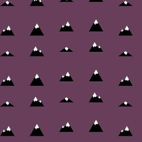 Mountains on Purple