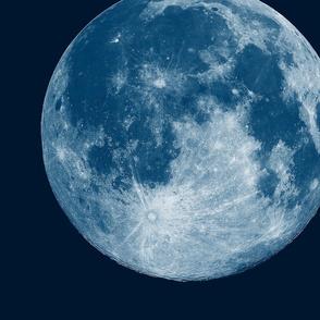 "Jumbo 16"" Blue Moon (fat quarter)"