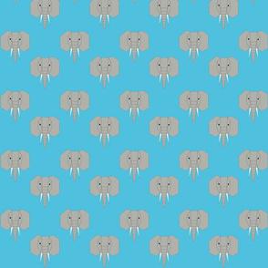 Geometric Elephant Blue