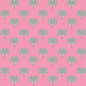 Geometric Elephant on Pink