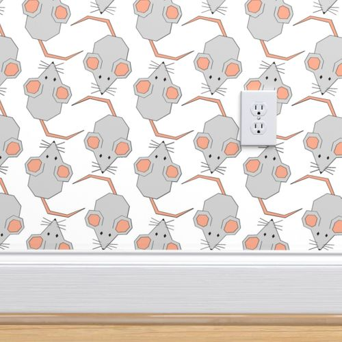 Wallpaper Mighty Mice On White