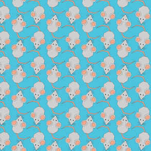 Mighty Mice on Blue
