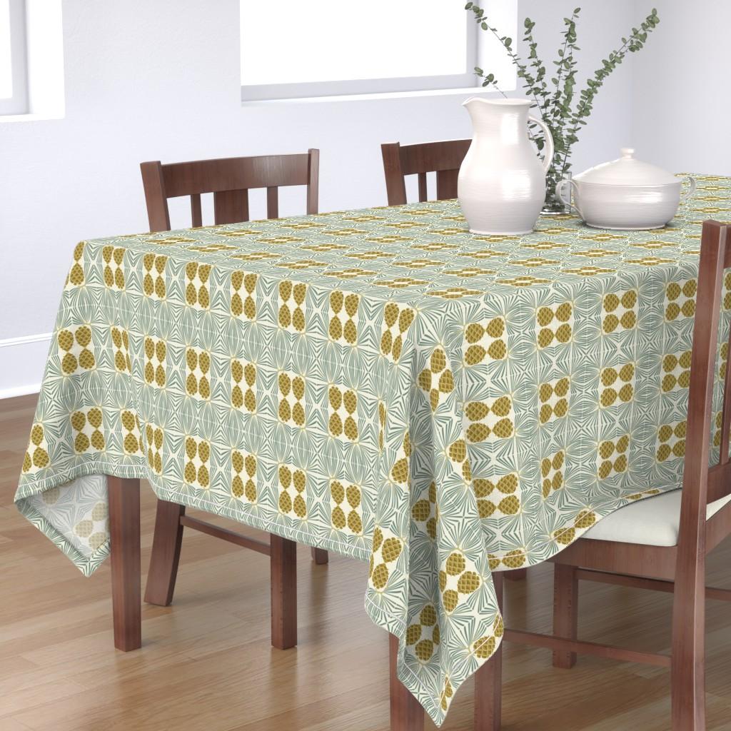 Bantam Rectangular Tablecloth featuring holiday pine lrg by cindylindgren