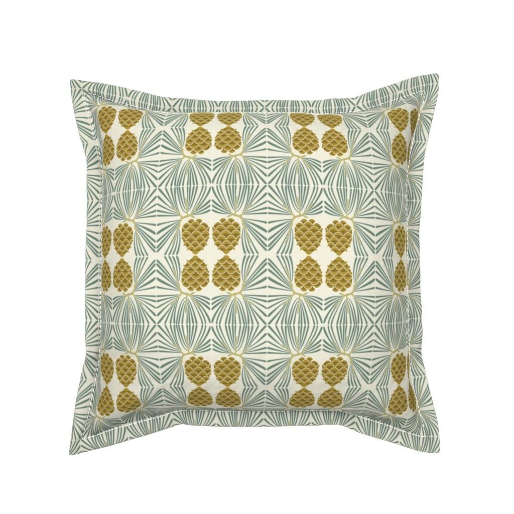 Serama Throw Pillow featuring holiday pine lrg by cindylindgren