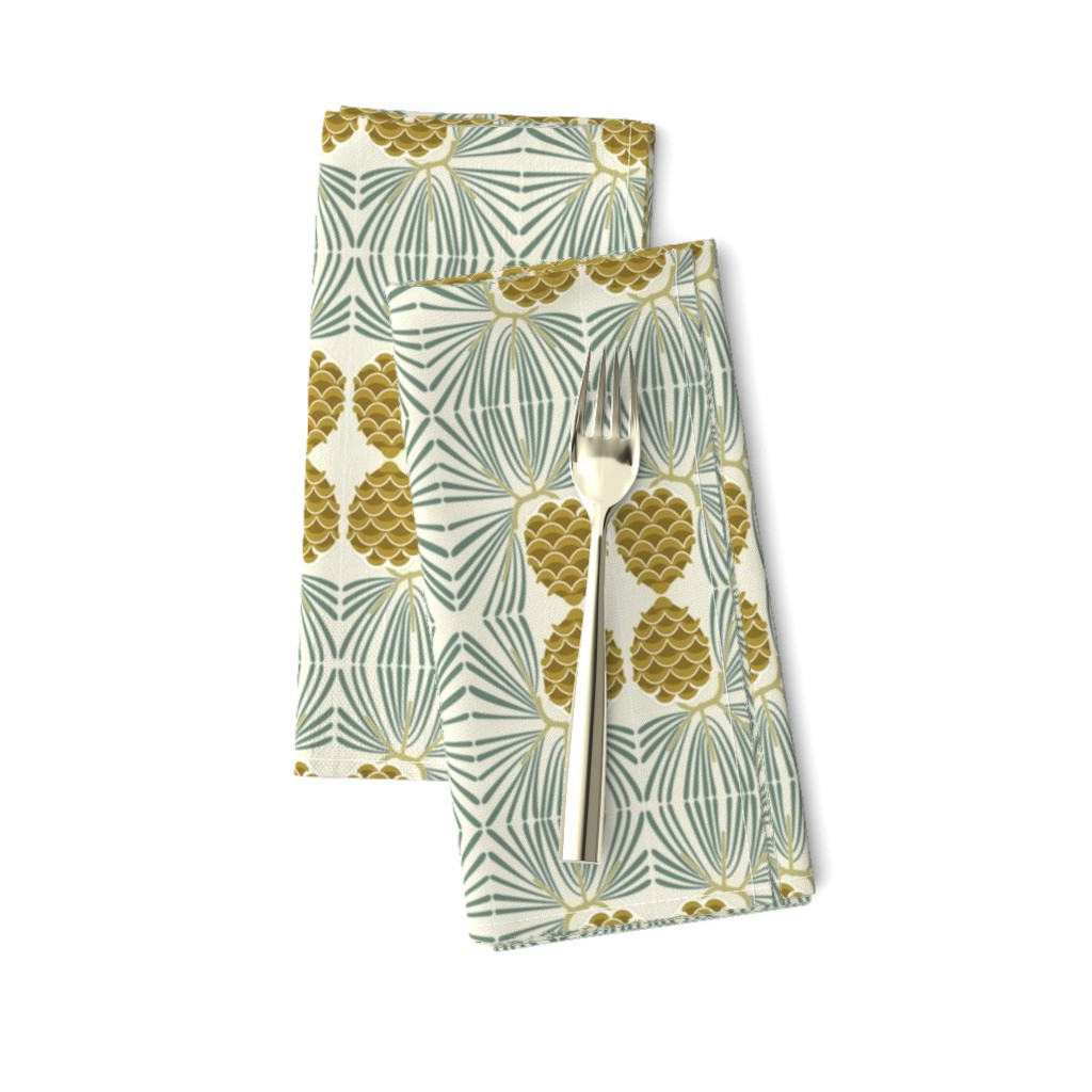 Amarela Dinner Napkins featuring holiday pine lrg by cindylindgren