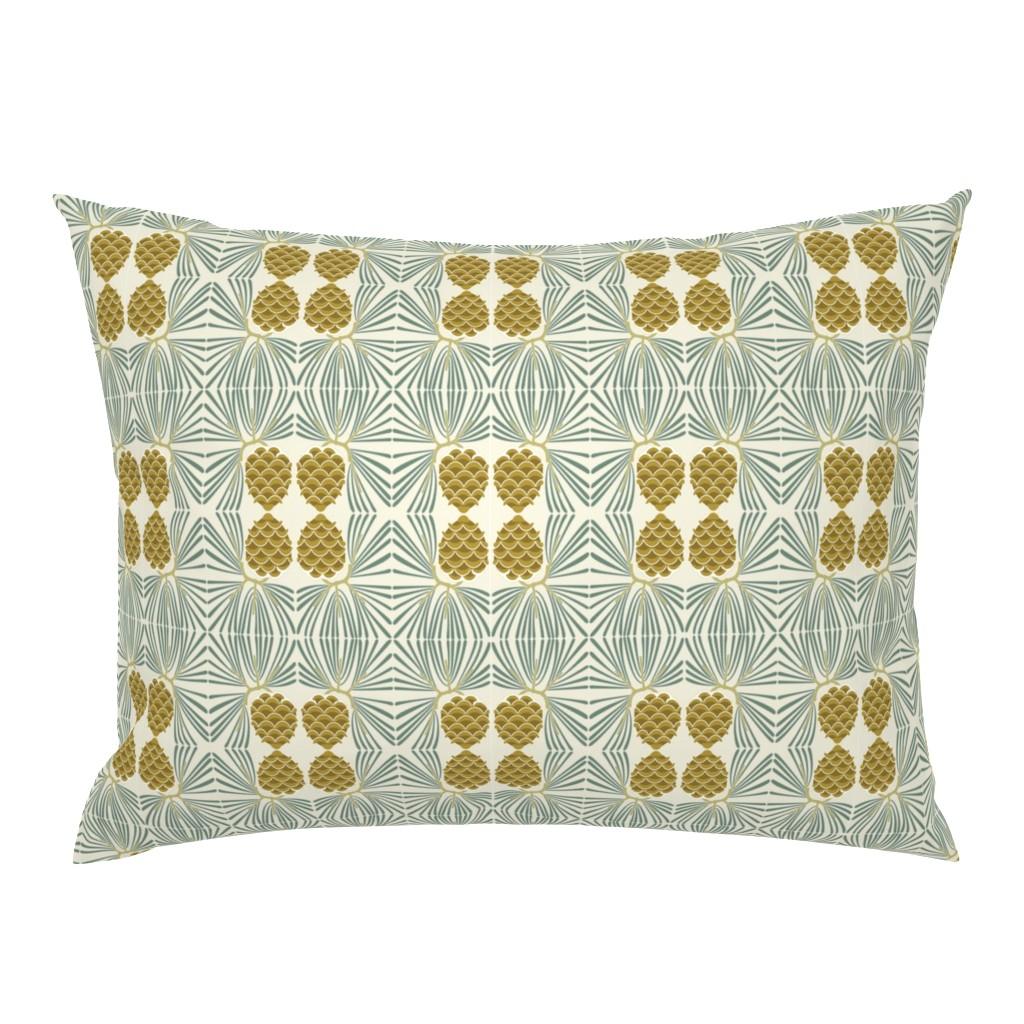 Campine Pillow Sham featuring holiday pine lrg by cindylindgren