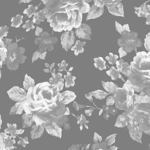 Gray watercolor floral