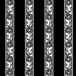 Spanish_Floral_Stripe_BLACKWHITE