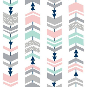 chevrons, chevron, pink and mint fabric cute girls fabric nursery baby fabric