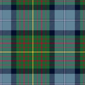 """California official state tartan, 6"""" faded"""
