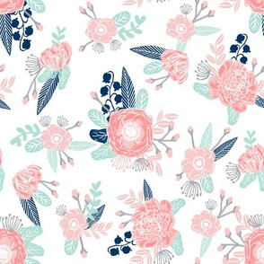 florals flower baby girl fabric baby nursery girls fabric cute fabric
