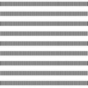 black + white tally dashes