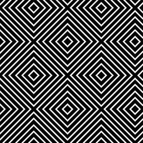 black + white diamonds squares reversed
