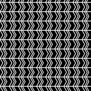 black + white chevron zigzags horizontal reversed