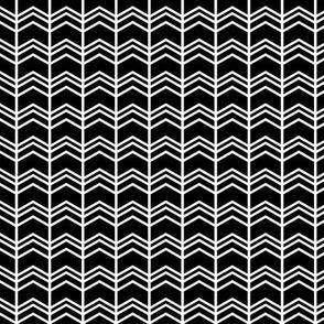 black + white chevron zigzags reversed
