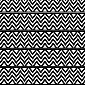 black + white chevron fun reversed