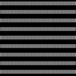 black + white tally dashes reversed