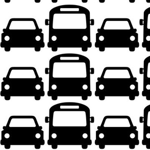 cars & buses LG » black + white no.2