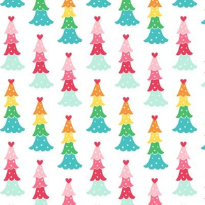 cute trees :: colorful christmas