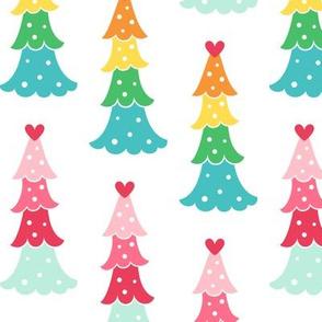 cute trees LG :: colorful christmas