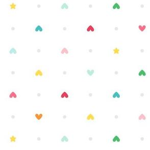 hearts stars LG :: colorful christmas