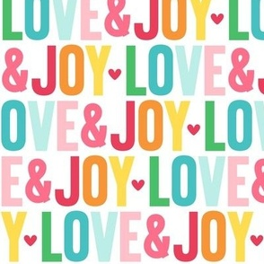 love joy LG colorful christmas UPPERcase