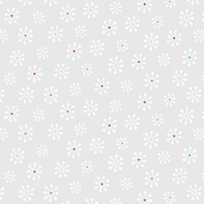 snowflakes :: colorful christmas