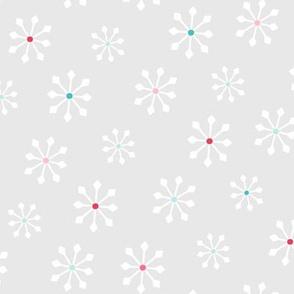 snowflakes LG :: colorful christmas