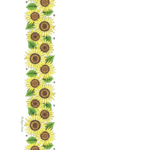 sunflowerteatowelsigned