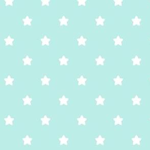 stars light teal LG