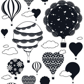 Doily Balloons (Black and White)