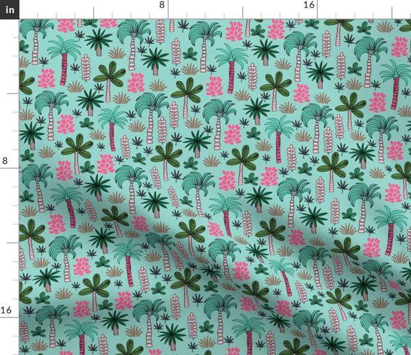 Stoff Meterware Tropisch Pflanzen Palme Andrea Lauren Handabdruck