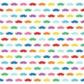 rainbow fun moustaches