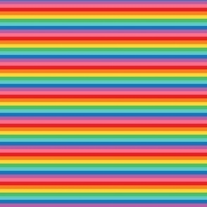 tiny rainbow stripes 2 horizontal