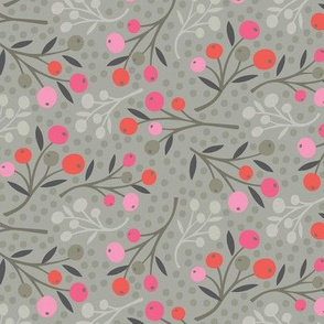 wild berries  - pink and red