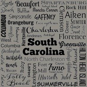 Cities of South Carolina, taupe
