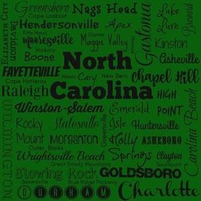 Cities of North Carolina, green