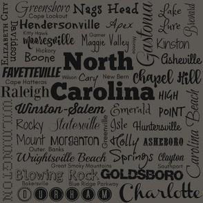 Cities of North Carolina, taupe gray