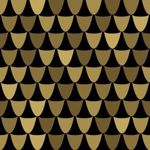 gold art deco geometric scales