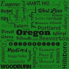 Cities of Oregon, green