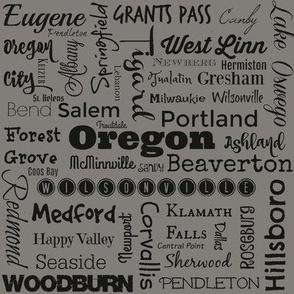 Cities of Oregon, gray