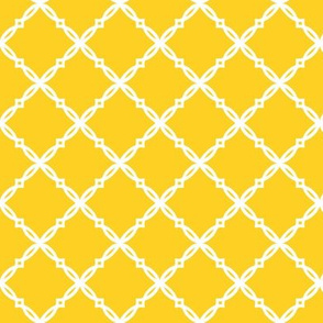 Purple and yellow team color Trellis yellow
