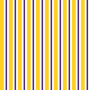 Purple and yellow team color stripe
