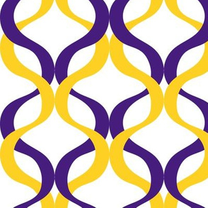Purple and yellow team color wave