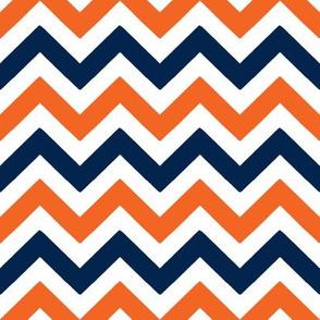 Navy and orange team color _Chevron