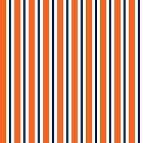 Navy and orange team color _stripe